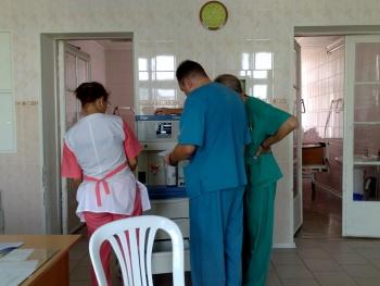 Наркозодыхательные аппараты Draeger Fabius Plus в реанимационном отделении больницы скорой медицинской помощи города Калуги